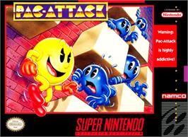 Box cover for Pac-Attack on the Nintendo SNES.
