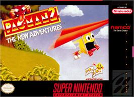 Box cover for Pac-Man 2: The New Adventures on the Nintendo SNES.