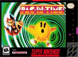 Box cover for Pac-in-Time on the Nintendo SNES.