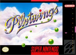 Box cover for Pilotwings on the Nintendo SNES.