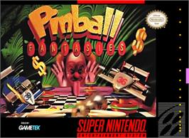 Box cover for Pinball Fantasies on the Nintendo SNES.