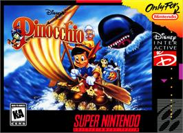 Box cover for Pinocchio on the Nintendo SNES.