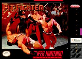 Box cover for Pit-Fighter on the Nintendo SNES.