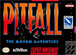 Box cover for Pitfall: The Mayan Adventure on the Nintendo SNES.