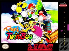 Box cover for Pop'n Twinbee on the Nintendo SNES.