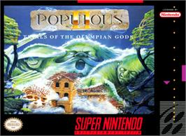 Box cover for Populous II: Trials of the Olympian Gods on the Nintendo SNES.
