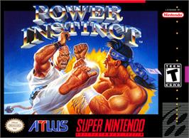 Box cover for Power Instinct on the Nintendo SNES.