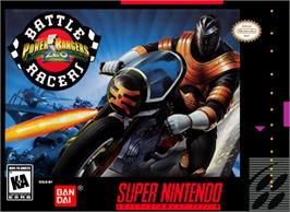 Box cover for Power Rangers Zeo: Battle Racers on the Nintendo SNES.