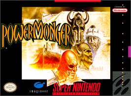 Box cover for Powermonger on the Nintendo SNES.