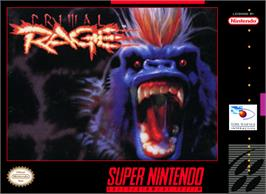 Box cover for Primal Rage on the Nintendo SNES.