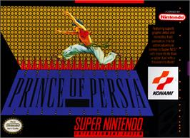 Box cover for Prince of Persia on the Nintendo SNES.