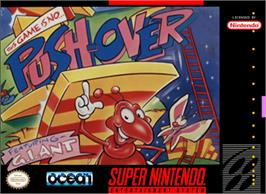 Box cover for Push-Over on the Nintendo SNES.