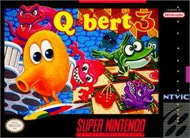 Box cover for Q*Bert 3 on the Nintendo SNES.