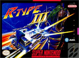 Box cover for R-Type III: The Third Lightning on the Nintendo SNES.