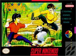 Box cover for Ranma 1/2: Hard Battle on the Nintendo SNES.