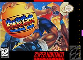 Box cover for Rap Jam: Volume One on the Nintendo SNES.