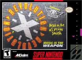 Box cover for Revolution X on the Nintendo SNES.