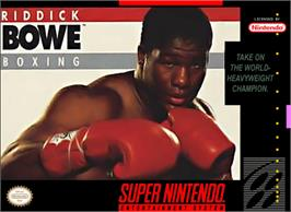 Box cover for Riddick Bowe Boxing on the Nintendo SNES.