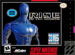 Box cover for Rise of the Robots on the Nintendo SNES.