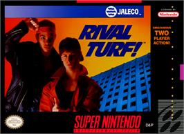 Box cover for Rival Turf on the Nintendo SNES.