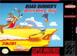 Box cover for Road Runner's Death Valley Rally on the Nintendo SNES.