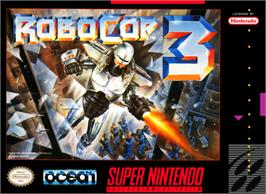 Box cover for RoboCop 3 on the Nintendo SNES.