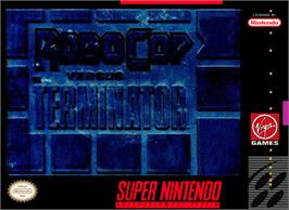 Box cover for RoboCop Versus the Terminator on the Nintendo SNES.