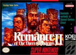 Box cover for Romance of the Three Kingdoms II on the Nintendo SNES.