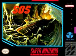 Box cover for SOS on the Nintendo SNES.