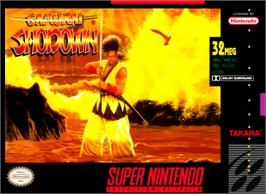 Box cover for Samurai Shodown on the Nintendo SNES.