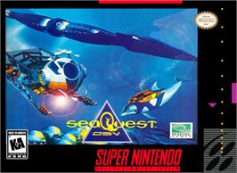 Box cover for SeaQuest DSV on the Nintendo SNES.