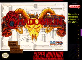 Box cover for Shadowrun on the Nintendo SNES.