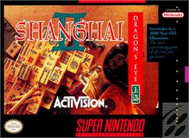 Box cover for Shanghai II: Dragon's Eye on the Nintendo SNES.