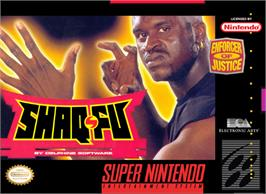 Box cover for Shaq Fu on the Nintendo SNES.