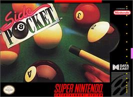Box cover for Side Pocket on the Nintendo SNES.