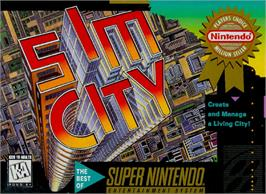 Box cover for SimCity on the Nintendo SNES.