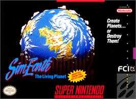 Box cover for Sim Earth: The Living Planet on the Nintendo SNES.