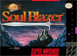 Box cover for Soul Blazer on the Nintendo SNES.