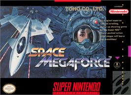 Box cover for Space Megaforce on the Nintendo SNES.