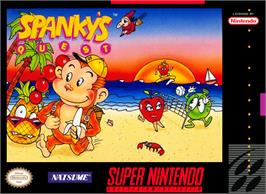 Box cover for Spanky's Quest on the Nintendo SNES.