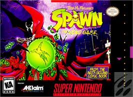 Box cover for Spawn on the Nintendo SNES.