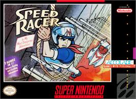 Box cover for Speed Racer in My Most Dangerous Adventures on the Nintendo SNES.