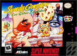 Box cover for Speedy Gonzales in Los Gatos Bandidos on the Nintendo SNES.