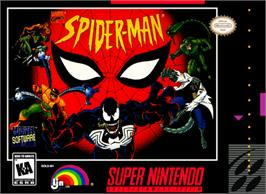 Box cover for Spider-Man: The Animated Series on the Nintendo SNES.