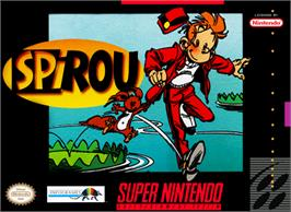 Box cover for Spirou on the Nintendo SNES.