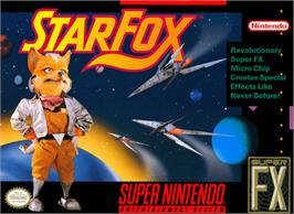Box cover for Star Fox on the Nintendo SNES.
