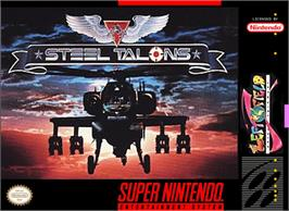 Box cover for Steel Talons on the Nintendo SNES.