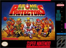 Box cover for Stone Protectors on the Nintendo SNES.
