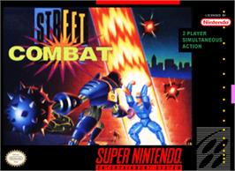 Box cover for Street Combat on the Nintendo SNES.
