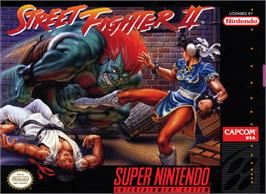 Box cover for Street Fighter II: The World Warrior on the Nintendo SNES.